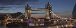 dawn, Tower Bridge, London, coloured lights, bridge, Debbie Lias, photography