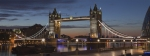 dawn, Tower Bridge, London, coloured lights, bridge, Debbie Lias, photography