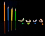 crayons, colours, debbie lias, photography