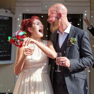 wedding, rings, I Do, Duke of Yorks, confetti, Debbie Lias, Photography