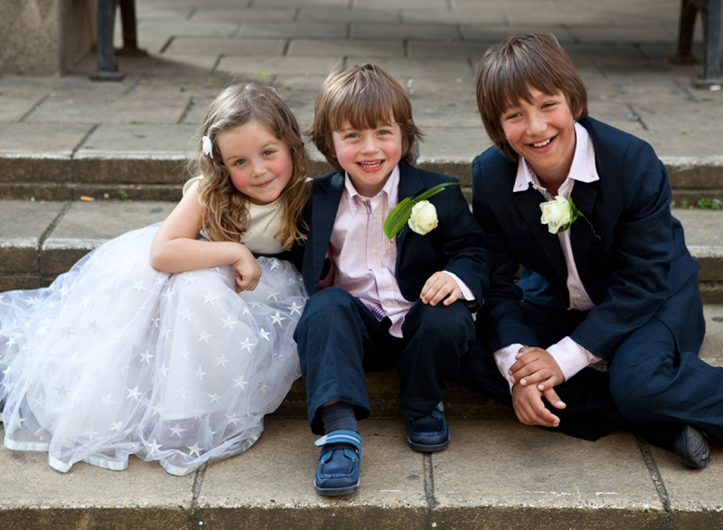 Bridesmaids, pageboys, wedding, Brighton Registry office,
