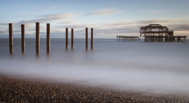 West Pier, Brighton, Slow, long exposure, milky water, Debbie Lias, photography,
