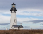 Yaquina, lighthouse, clouds, sky, debbie lias, photography