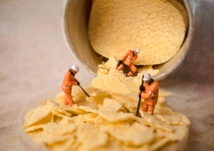 small world, model workmen, pringles, debbie lias, photography