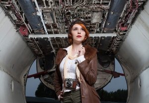 model, aviation, plane, gatwick, airport, debbie lias, photography