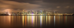 Landscapes, reflections, night time, Vancouver, Debbie Lias, photography