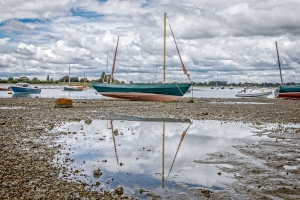 Bosham harbour, yacht, boat, low tide, sea, debbie lias, photography