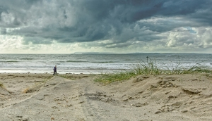 west wittering, beach, sand, stormy skies, debbie lias, photography